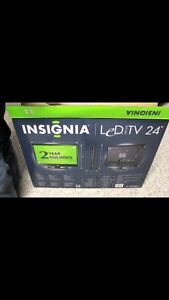 "Brand new in box 24"" led insignia tv"