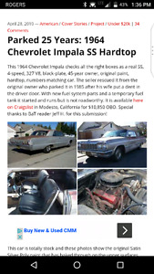 Scam alert!! Do not send money for the silver 1964 impala
