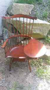Left Handed Antique Reproduction Windsor Writing Chair