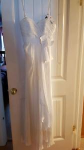 Long white prom dress new