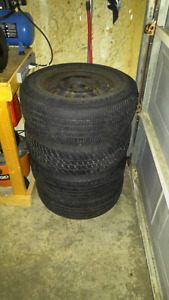 "15"" steel rims with old rubbers"