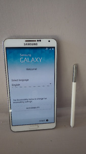 Rare Samsung Galaxy White Note 3 Cell Phone with Stylist