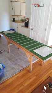 Custom sports themed beer pong table