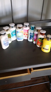 Bath and bosy works lotions, shower gels etc
