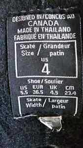 ICE SKATES-ccm youth size 4 us. width E London Ontario image 3