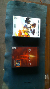 Pc games Diablo and overwatch