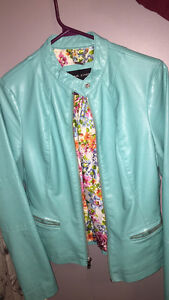 Turquoise Faux-Leather Jacket XS Kingston Kingston Area image 2