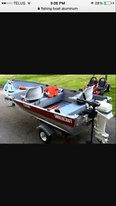 Looking for  aluminum boat trailer and motor package 1000.00
