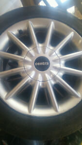 Alloy Rims from a Mazda Protege