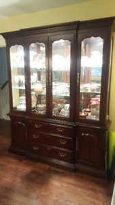 China Cabinet - Solid Wood with lighting