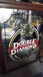 """DOUBLE DIAMOND"" LARGE BAR MIRROR/PUB MIRROR 45X32"