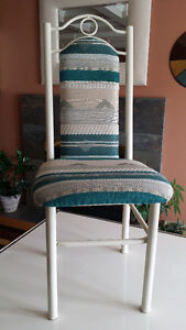 Off-White/Cream Dining Table and 6 Chairs - Leons London Ontario image 5