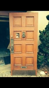 Heavy 1920's front door, incl all brass and Crystal