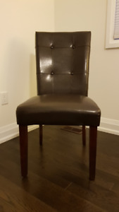 Chocolate Brown Parsons Chair with Espresso Stained Legs