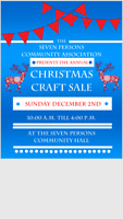 Seven Persons Community Christmas Craft Sale