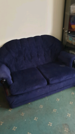 FREE navy sofas 2 seater and 2x 1 seater