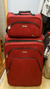 Samsonite luggage with carry on.