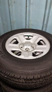 5x127 OEM Jeep Wrangler Rim & Take Off Tires 225/75R16 Package