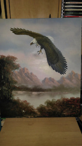 Eagle Oil Paintings Set of Five