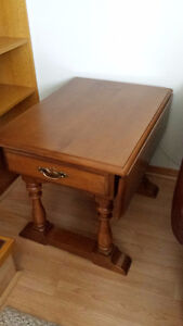 Antique Solid Maple Vilas Occasional Tables, Set of 2