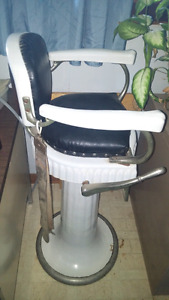 Antique Child's Barbers Chair Liken