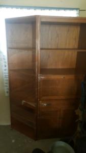 Oak book case unit