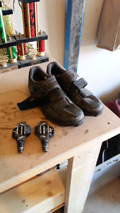Time attac xc pedals and Shimano xc shoes.