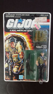 Vintage Gi-Joe action figures.