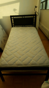 One matress and one bed with frame only 100$