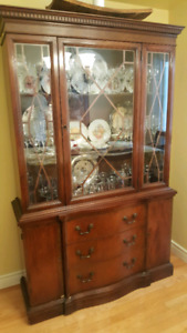 Antique Walnut Hutch and Buffet