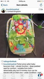 Fisher price rainforest bouncer chair that vibrates
