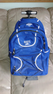 Roots Backpack with wheels $45