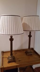 Set of 2 Candlestick Table Lamps with Shades