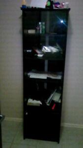 EXCELLENT SHOW CASE/DISPLAY, BLACK COLOR,OPEN&CLOSED DOOR
