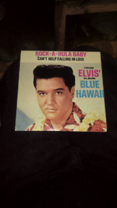 Elvis Presley 45 collection record