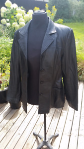 Leather Jacket - Mid-length - Black - free delivery if...