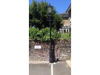 Victorian cast iron lamp posts