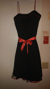 (New) Red And Black Trimmed Dress (Size 10)