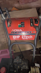 Noma 10HP 27INCH Electric Start
