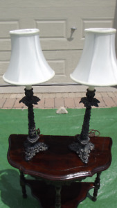 Antique Pair of Table Lamps