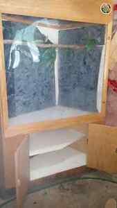 Reptile snake lizard chameleon bird bark terrarium corner cage