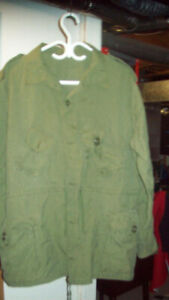 green and camo army shirts  4 sale