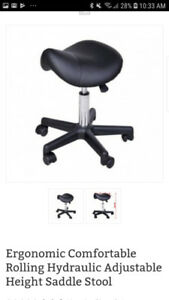Aesthetician Saddle Stool - used only twice