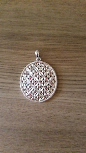 Stamped sterling silver pendant