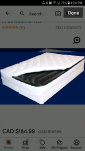 Soft side queen water bed - Pick Up Pending