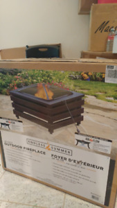 29-in Square Wood-Burning Fire Pit - $130