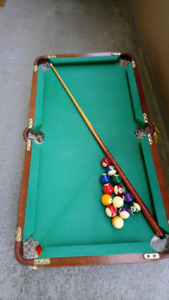 GREAT Hobby for Budding Pool Player! MINI POOL TABLE for Pennies