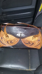 Hand crafted hard leather purse
