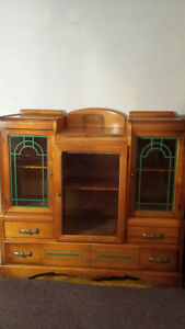 Vintage original art deco style china display cabinet