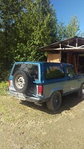 1989 Ford Bronco II 4X4 - with snow plow - $1000 OBO